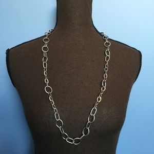 Chunky Silver Chain Statement Necklace